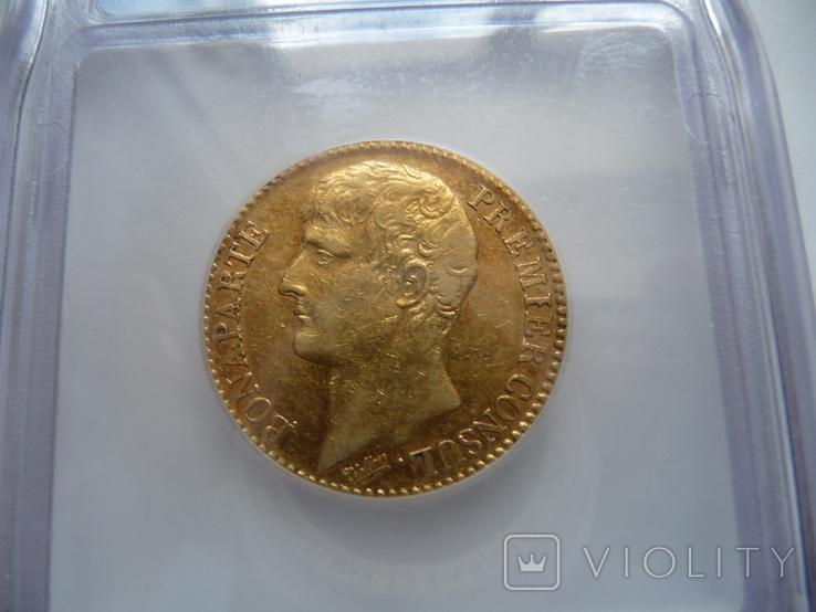 Франция 40 фр. 1803г. Наполеон Премьер-Консул, фото №5