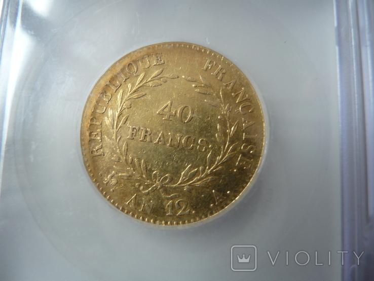 Франция 40 фр. 1803г. Наполеон Премьер-Консул, фото №6