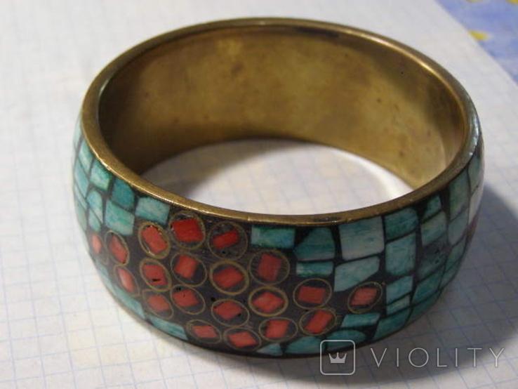 Браслет мозаика эмали, фото №2