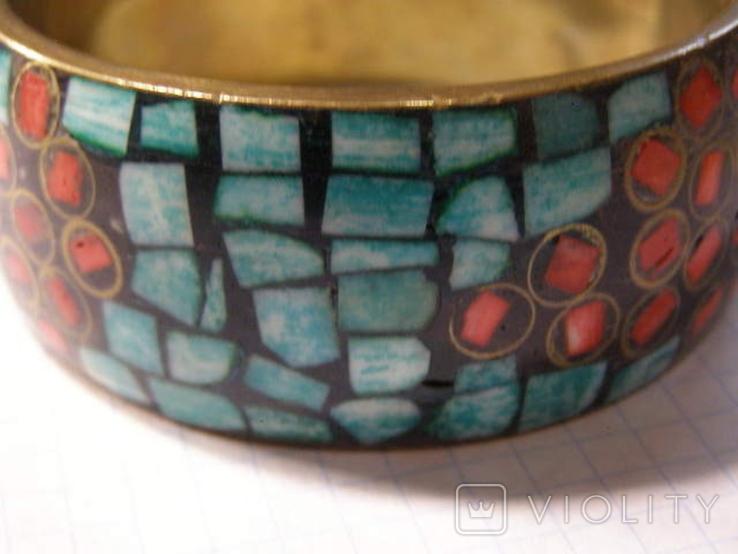Браслет мозаика эмали, фото №4
