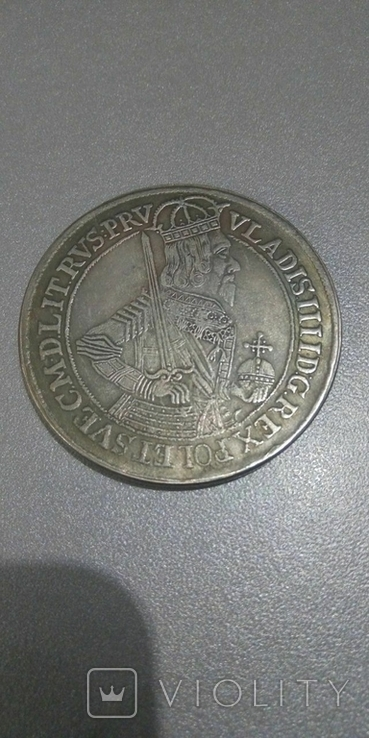 Талер 1633 Польша Владислав 4, копия, фото №2
