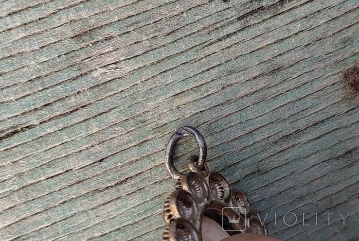 Кулон Голландия, серебро, подглазурная роспись кобальтом., фото №6
