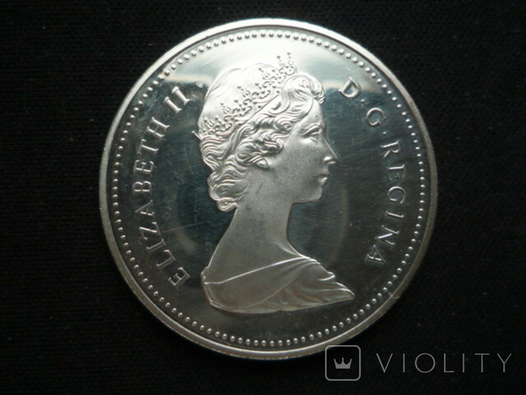 "1 доллар 1984 года, Канада ""150 лет Торонто"", серебро. Proof., фото №2"
