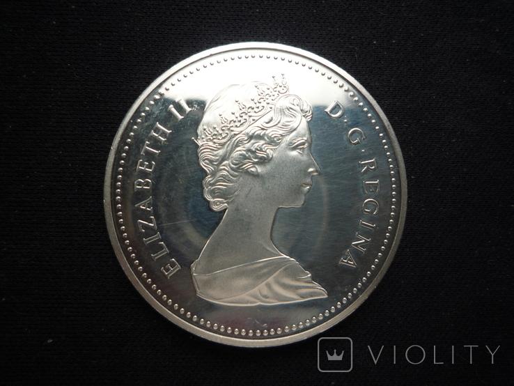 "1 доллар 1984 года, Канада ""150 лет Торонто"", серебро. Proof., фото №4"