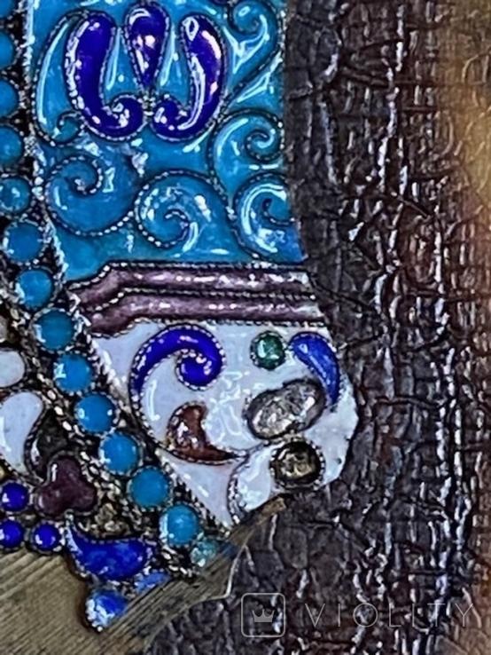 Икона Господь Вседержитель. В серебре и эмалях, фото №5