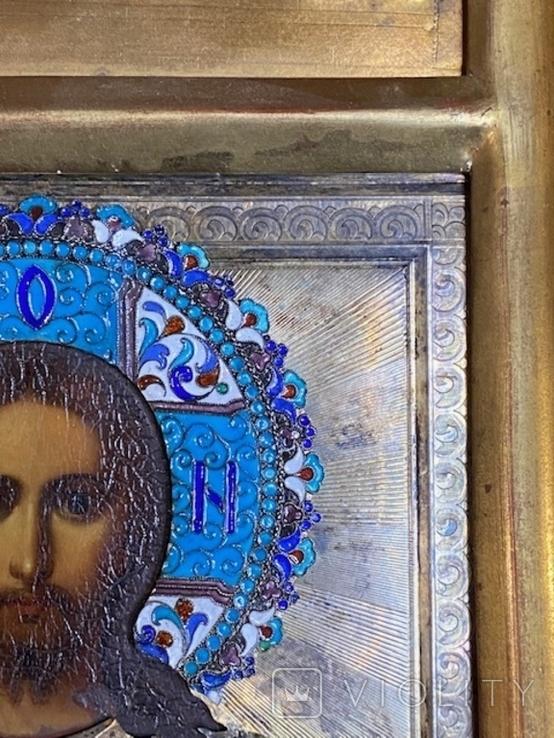 Икона Господь Вседержитель. В серебре и эмалях, фото №10