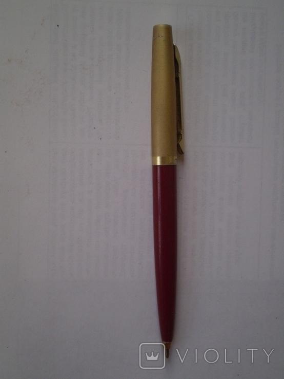 Шариковая ручка с позолоченным колпачком Monblant K 681, фото №3