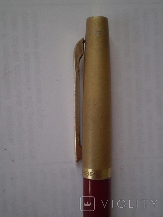 Шариковая ручка с позолоченным колпачком Monblant K 681, фото №6