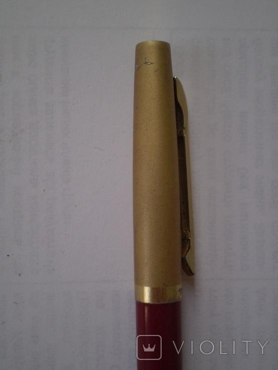Шариковая ручка с позолоченным колпачком Monblant K 681, фото №7