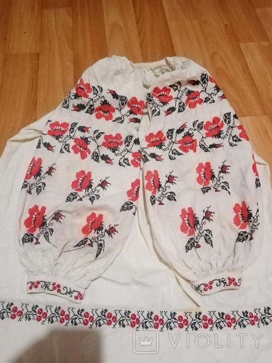 Калінкорова сорочка вишита хрестиком, фото №3
