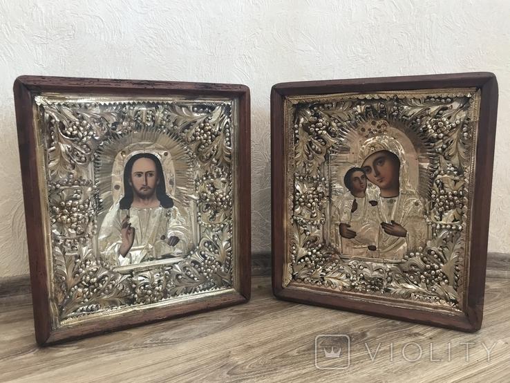 Венчальная пара в киотах / икона, фото №2