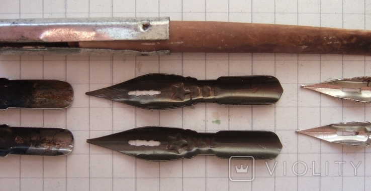 Ручка-держатель из иглы морского ежа + 2 пера №11 + 2 пера № 12 + 2 пера № 23, фото №8
