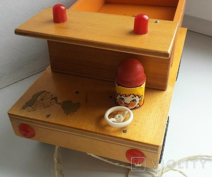 Деревянная грузовая машинка для детей, из СССР., фото №6