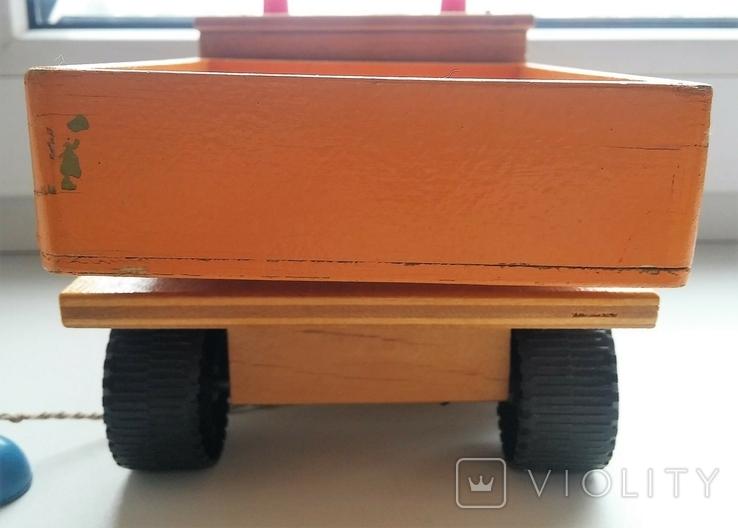 Деревянная грузовая машинка для детей, из СССР., фото №7