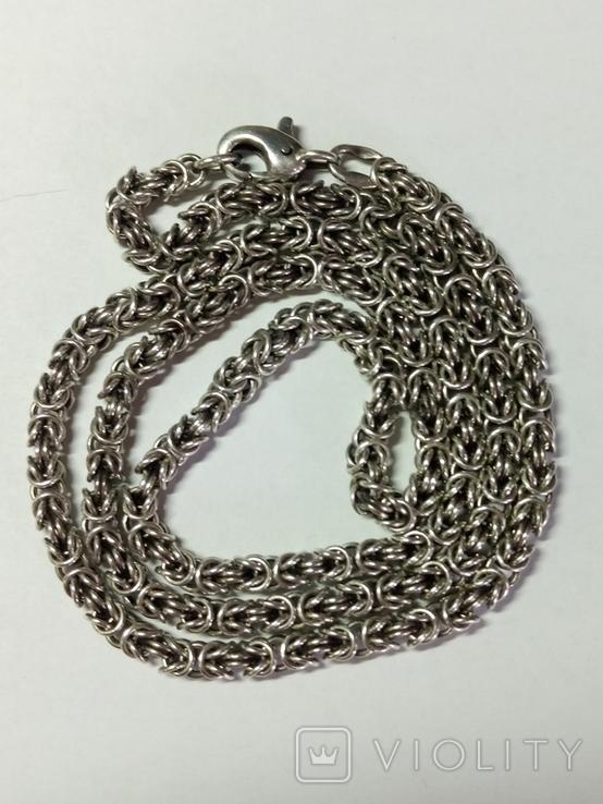 Крест и цепочка серебро 925 проба, (45гр.), фото №7