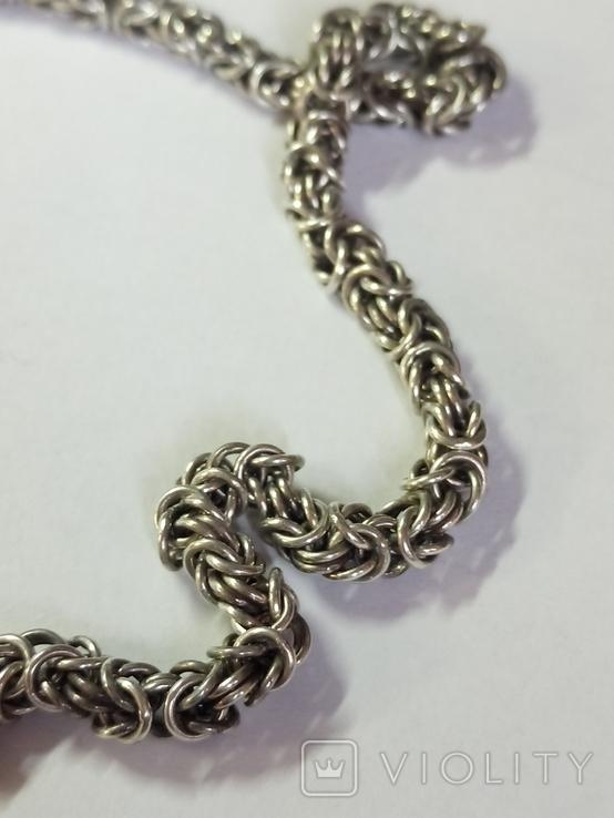 Крест и цепочка серебро 925 проба, (45гр.), фото №11
