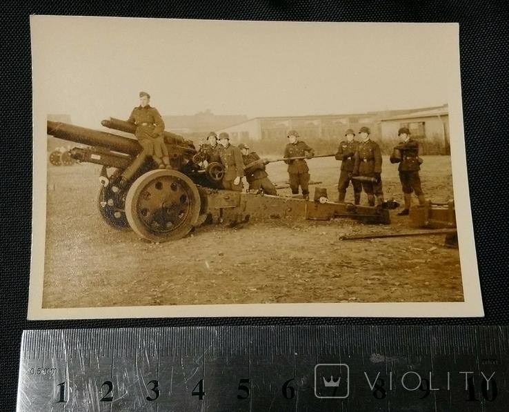 Артиллерийский расчет орудия SfH18 Вермахт, фото №3