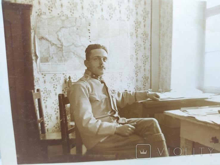 Фото Старшина Австрийской армии на фоне карты боевых действий, фото №4