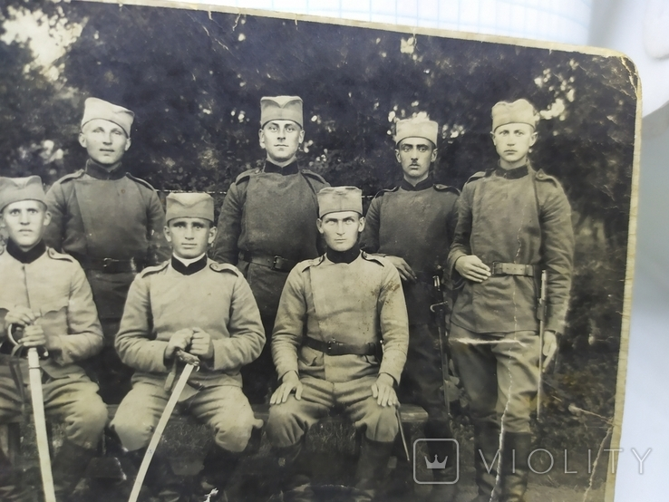 Фото военный Сербской армии с саблями и тесаками, фото №4