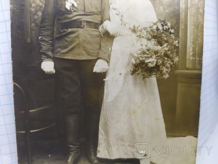 Фото Жених и невеста. Вольноопределяющийся ЖД войск, фото №4