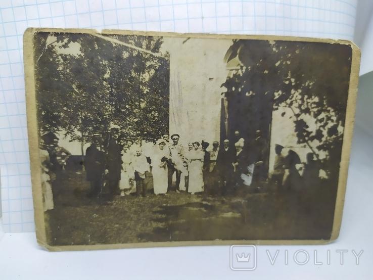 Фото Свадьба. Офицер с женой и гостями, фото №2