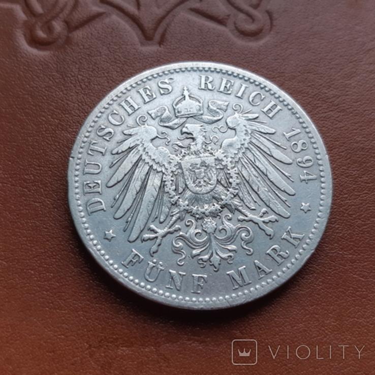 5марок1894 р. Баварія, фото №6