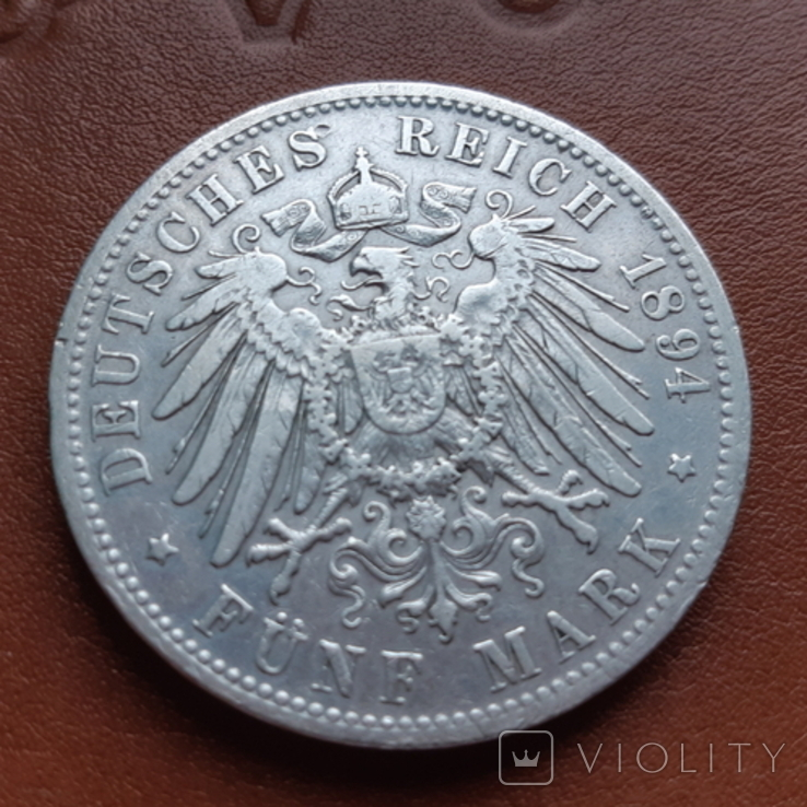 5марок1894 р. Баварія, фото №7