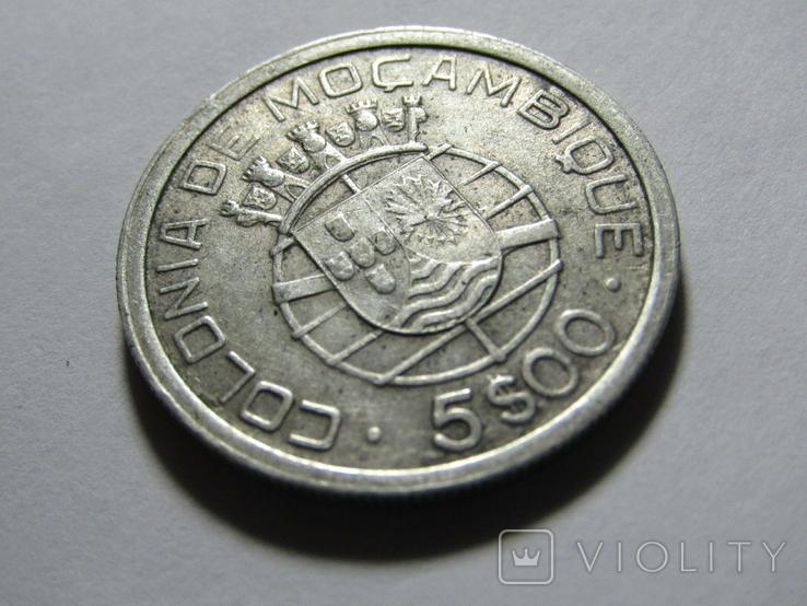 5 эскудо 1949 Мозамбик, фото №4