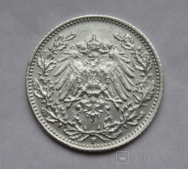 1/2 марки 1919 г. (F) Германия, серебро, фото №5
