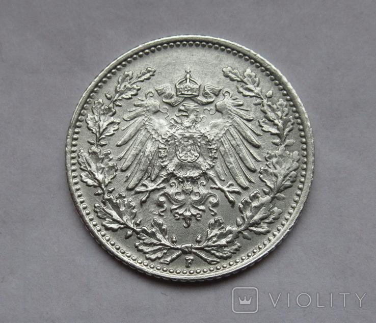 1/2 марки 1919 г. (F) Германия, серебро, фото №6