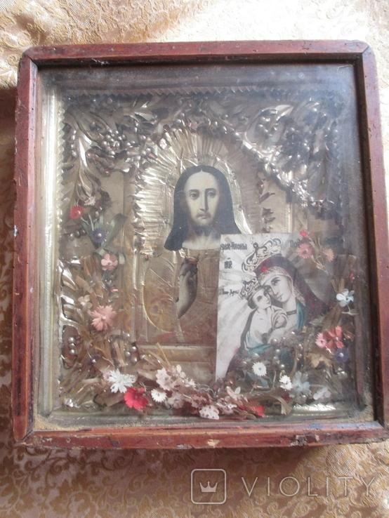 Икона Исуса  Христа , дерево., фото №4
