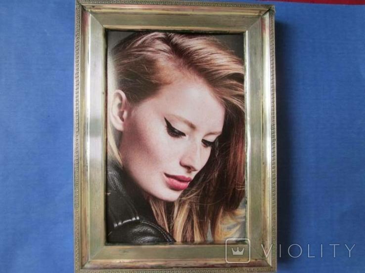 Серебро рамка для фото. Италия стиль Versace.16 см. х 12., фото №2