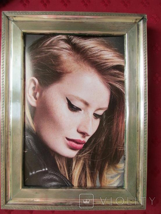 Серебро рамка для фото. Италия стиль Versace.16 см. х 12., фото №3