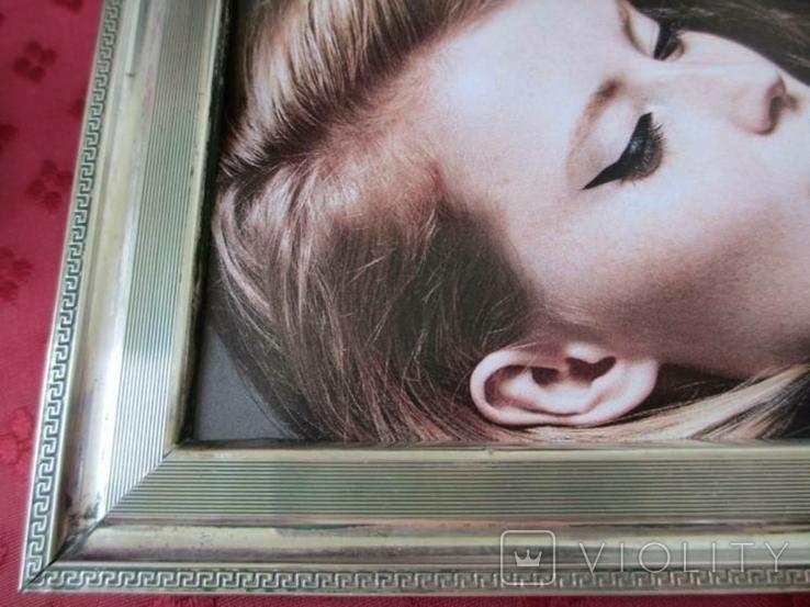 Серебро рамка для фото. Италия стиль Versace.16 см. х 12., фото №4