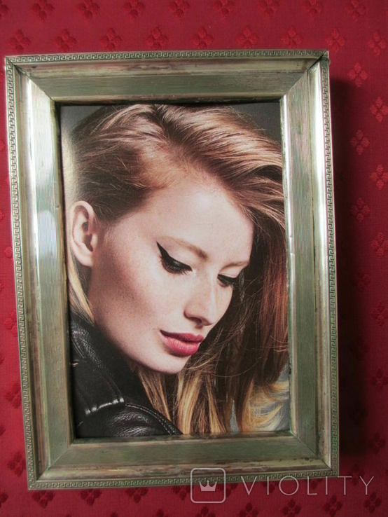 Серебро рамка для фото. Италия стиль Versace.16 см. х 12., фото №11