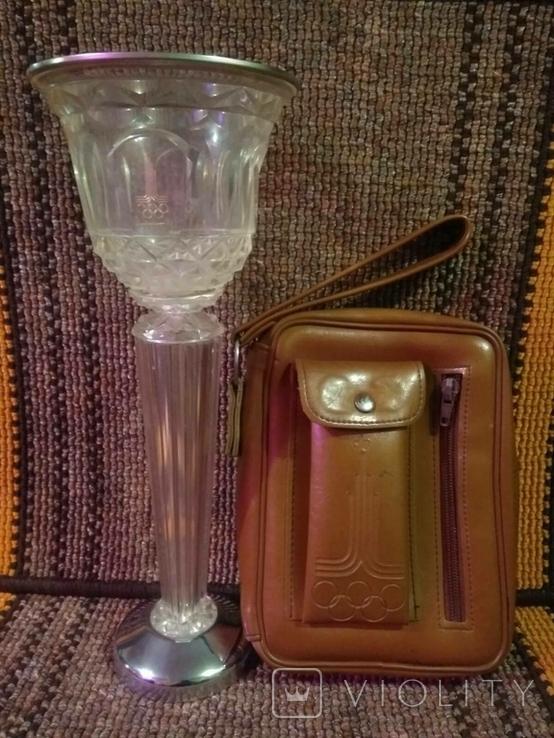 Кубок и барсетка с символикой Олимпиады., фото №2