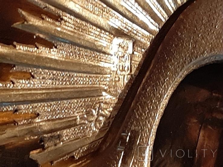 Икона Максим и Миланья, огненное золочение 36 х 31 см. 84 проба,, фото №12