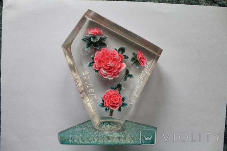 Сувенир Розы оргстекло + бонус, фото №4