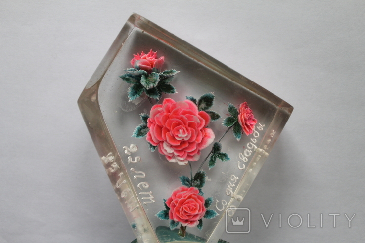 Сувенир Розы оргстекло + бонус, фото №5