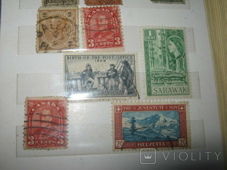 Почтовые марки США, Канады,Австралии и пр. стран Мира 39 шт., фото №4