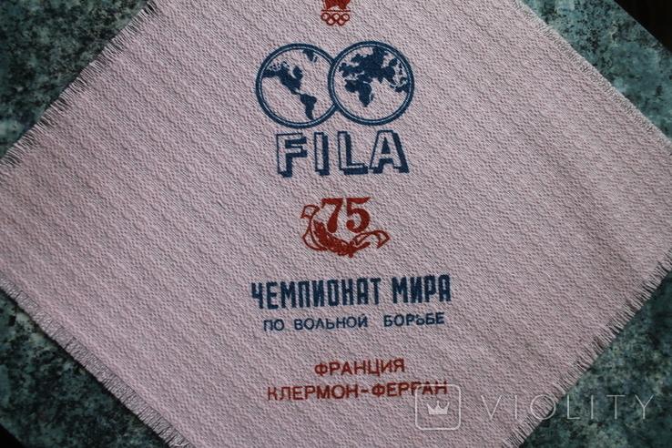 Сервировочная салфетка Чемпионат Мира по вольной борьбе Франция 1987 г, фото №3