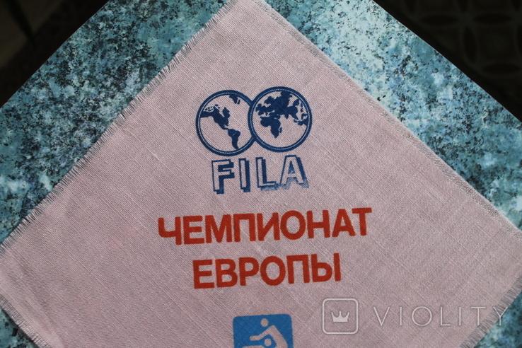 Сервировочная салфетка Чемпионат Европы по вольной борьбе 1988 г, фото №4