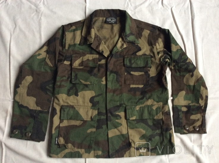 Детская камуфляжная куртка Джунгли, б/у, фото №2