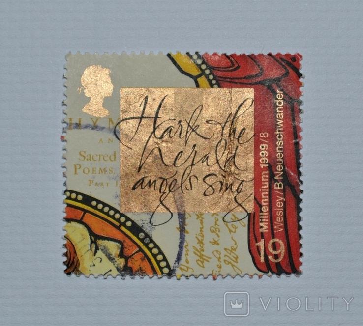 Почтовая марка, Великобритания. Серия: Millennium Christians. 1999 год., фото №2