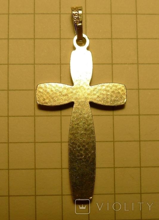 Крестик серебро 925 проба.  Клеймо. Именник., фото №5