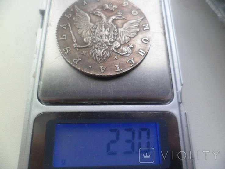 Рубль 1790 рік копія, фото №7