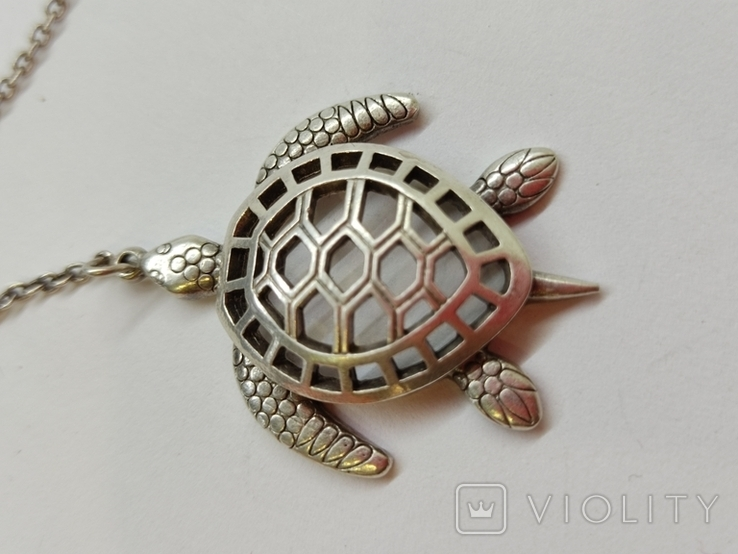 Кулон подвеска Черепаха серебро 925, фото №8