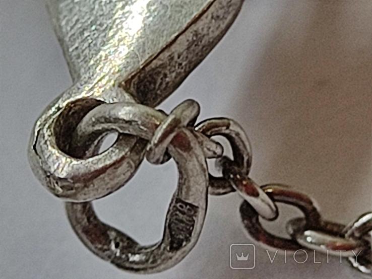 Кулон подвеска Черепаха серебро 925, фото №9