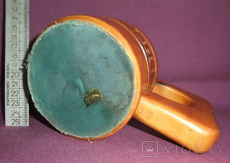 Кружка резная для кваса и других напитков. Дерево народные промыслы СССР., фото №5