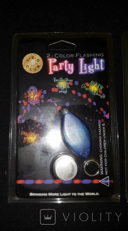 Брелок Partu Light Color Flashing LED со светодиодом батарейка 5 штук, фото №5